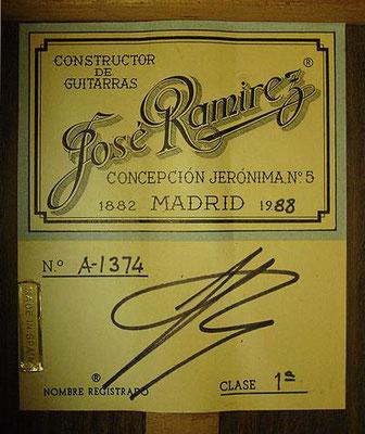 Jose Ramirez 1988 - Guitar 1 - Photo 2