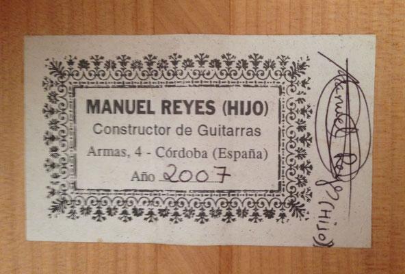 Manuel Reyes Hijo 2007 - Guitar 2 - Photo 7