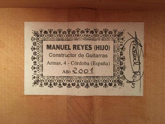 Manuel Reyes Hijo 2001 - Guitar 4 - Photo 28