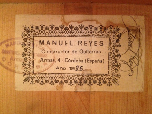 Manuel Reyes 1996 - Guitar 1 - Photo 2