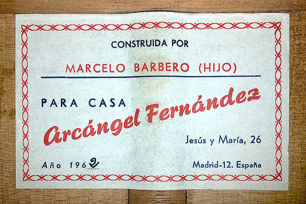 Marcelo Barbero Hijo 1962 - Guitar 1 - Photo 11