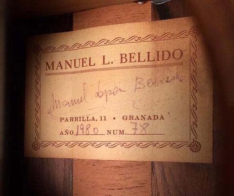 Manuel Bellido 1980 - Guitar 1 - Photo 12