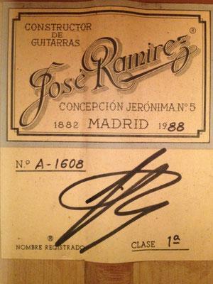 Jose Ramirez 1988 - Guitar 2 - Photo 19