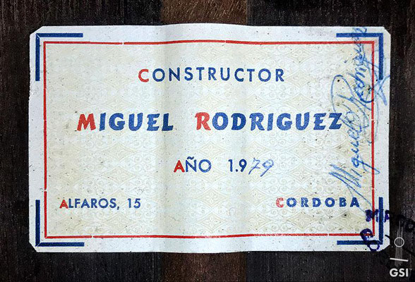 Miguel Rodriguez 1979 - Guitar 2 - Photo 10