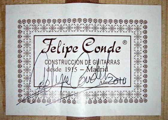 Felipe Conde 2010 - Guitar 5 - Photo 1