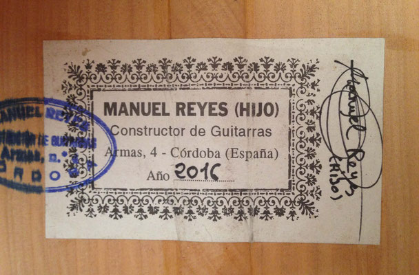 Manuel Reyes Hijo 2016 - Guitar 1 - Photo 12