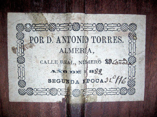 Antonio de Torres 1888 - Guitar 1 - Photo 1