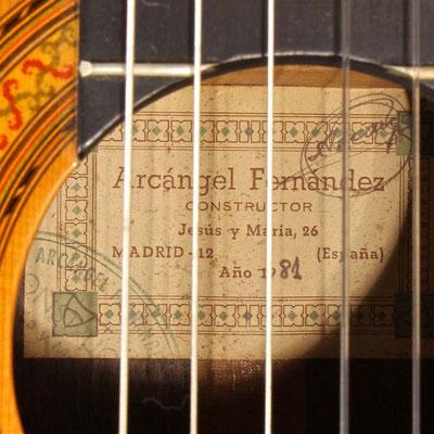 Arcangel Fernandez 1981 - Guitar 1 - Photo 4