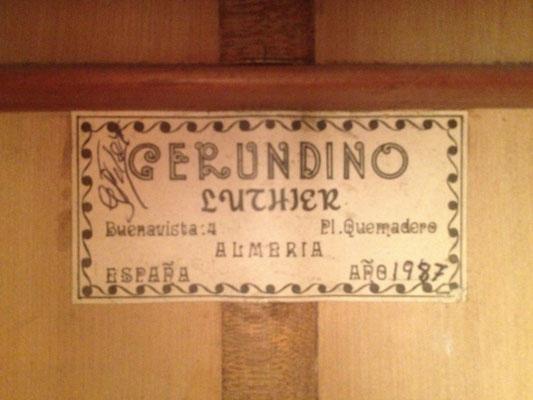 Gerundino Fernandez 1987 - Pepe Habichuela - Guitar 2 - Photo 2