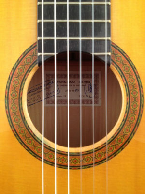 Francisco Barba 1987 - Guitar 1 - Photo 1