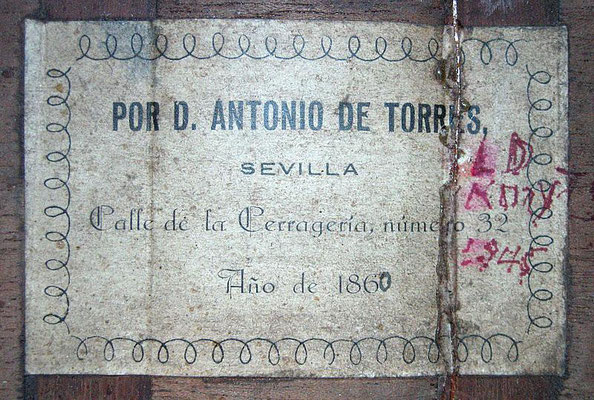 Antonio de Torres 1860 - Guitar 1 - Photo 1