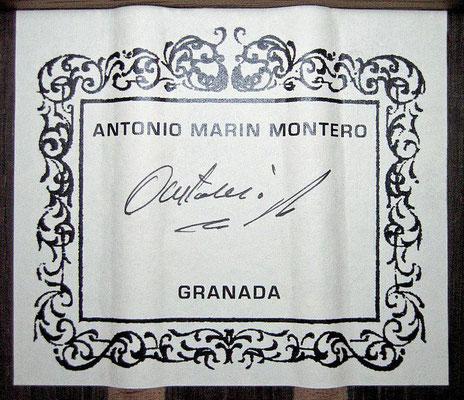 Antonio Marin Montero 2012 - Guitar 1 - Photo 1