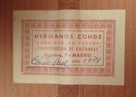 Hermanos Conde - 1988 - Guitar 6 - Photo 7
