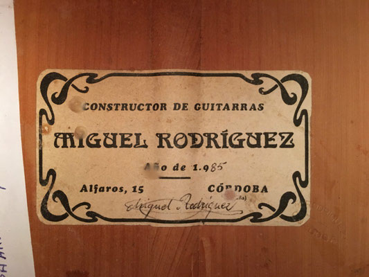 Miguel Rodriguez 1985 - Guitar 1 - Photo 1