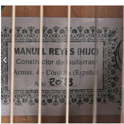Manuel Reyes Hijo 2013 - Antonio Rey - Guitar 1 - Photo 5