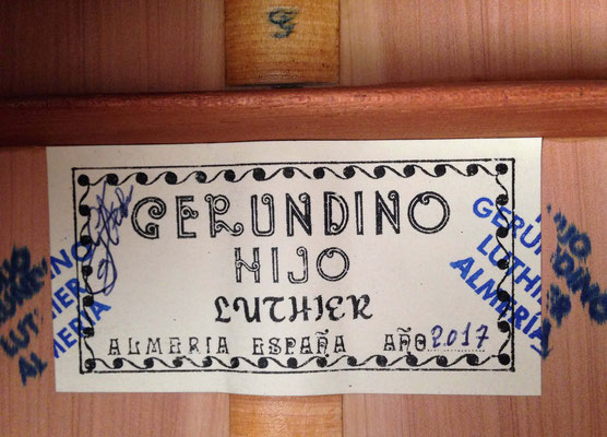 Gerundino Fernandez Hijo 2017 - Guitar 1 - Photo 5