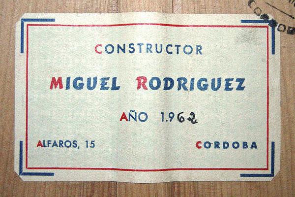 Miguel Rodriguez 1962 - Guitar 1 - Photo 6