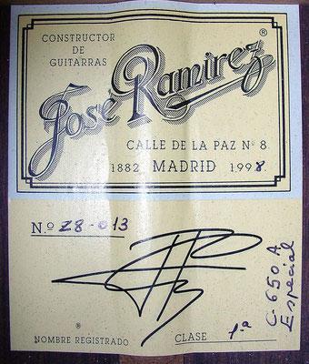 Jose Ramirez 1998 - Guitar 1 - Photo 7