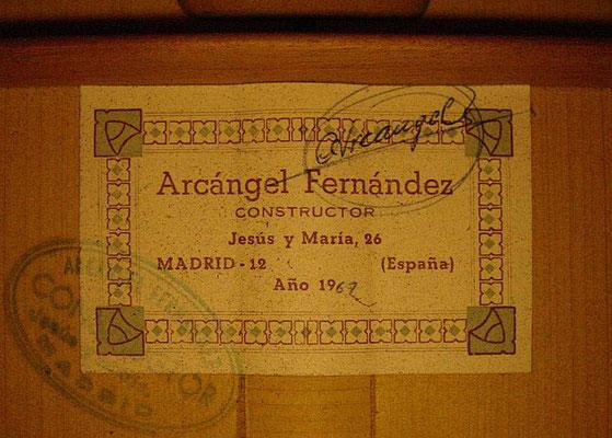 Arcangel Fernandez 1967 - Guitar 2 - Photo 6