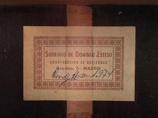 Sobrinos de Domingo Esteso 1974 - Guitar 7 - Photo 10