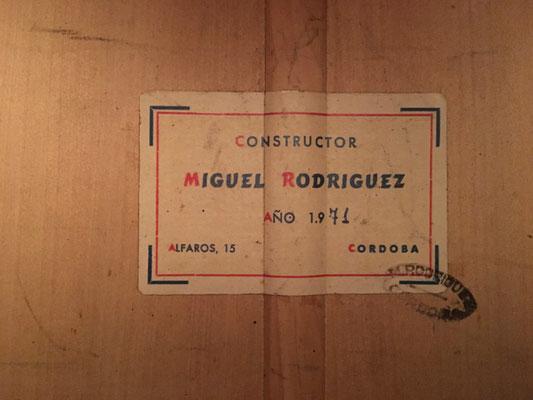 Miguel Rodriguez 1971 - Guitar 2 - Photo 8
