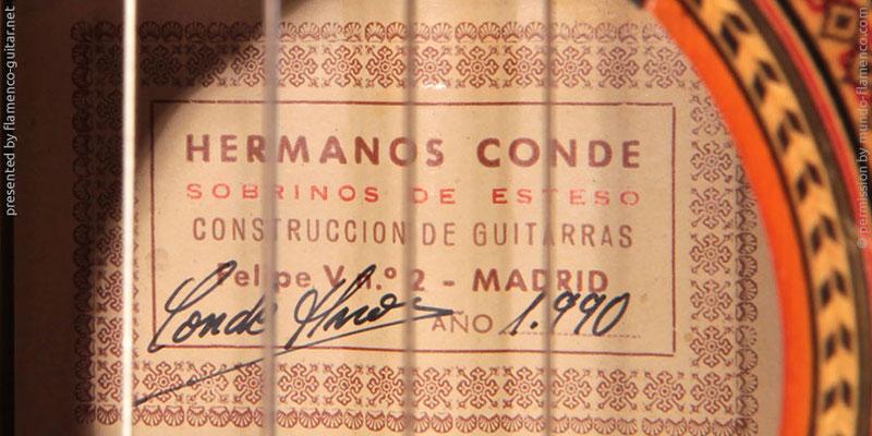 HERMANOS CONDE - SOBRINOS DE ESTESO 1990 - LABEL - ETIKETT - ETIQUETA