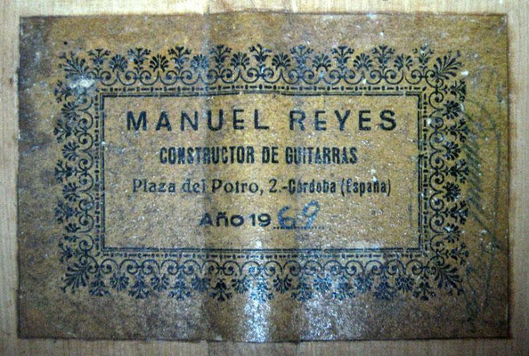 Manuel Reyes 1969 - Guitar 2 - Photo 3