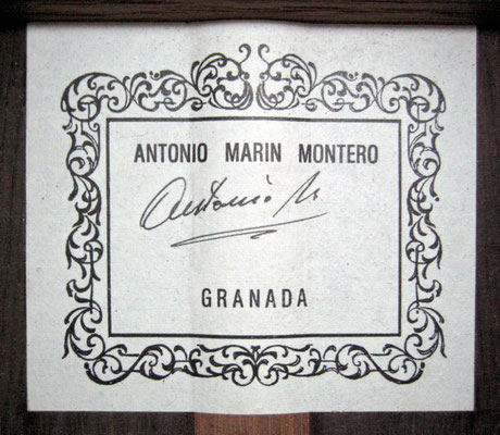 Antonio Marin Montero 1999 - Guitar 1 - Photo 3