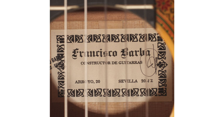 Francisco Barba 2012 - Guitar 1 - Photo 4