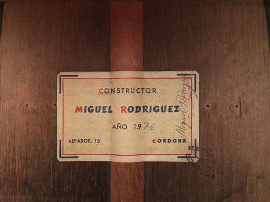 Miguel Rodriguez 1976 - Guitar 2 - Photo 1
