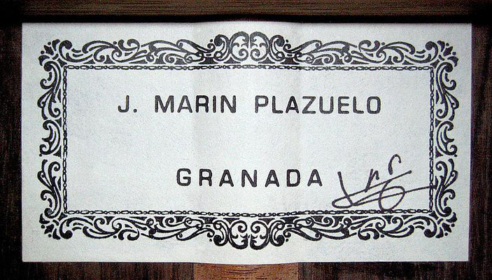Jose Marin Plazuelo 2002 - Guitar 1 - Photo 1