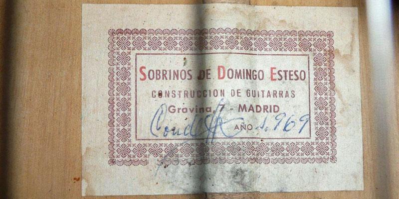 HERMANOS CONDE - SOBRINOS DE ESTESO 1969 - LABEL - ETIKETT - ETIQUETA