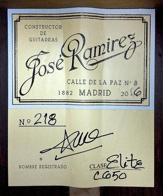 Jose Ramirez 2016 - Guitar 3 - Photo 3