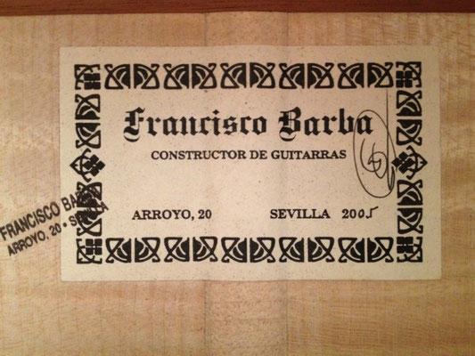 Francisco Barba 2005 - Guitar 1 - Photo 2