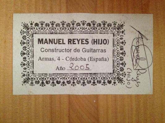 Manuel Reyes Hijo 2005 - Guitar 1 - Photo 3