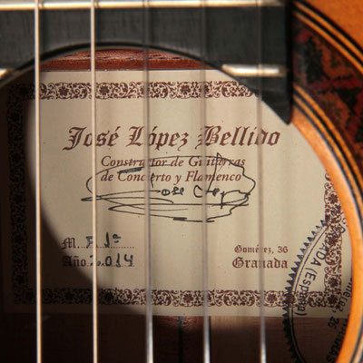 Jose Lopez Bellido 2014 - Guitar 1 - Photo 2