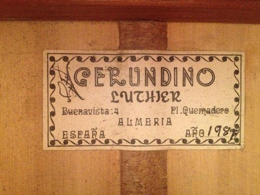 Gerundino Fernandez 1987 - Guitar 1 - Photo 2