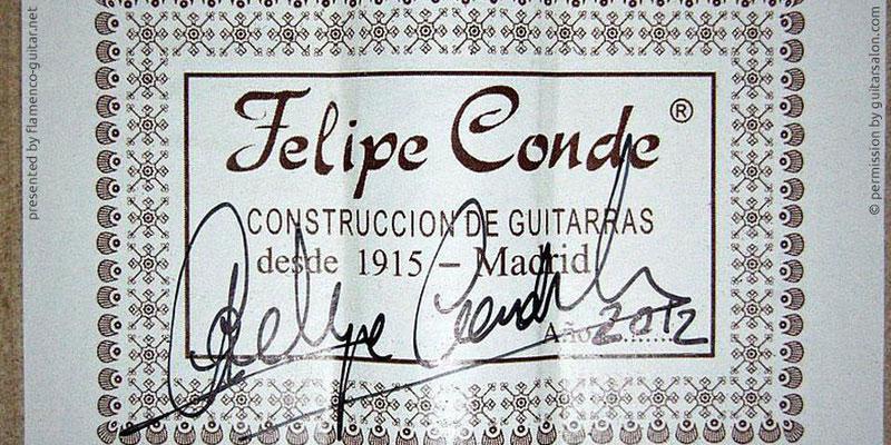 HERMANOS CONDE - FELIPE CONDE 2012 #2 - LABEL - ETIKETT - ETIQUETA