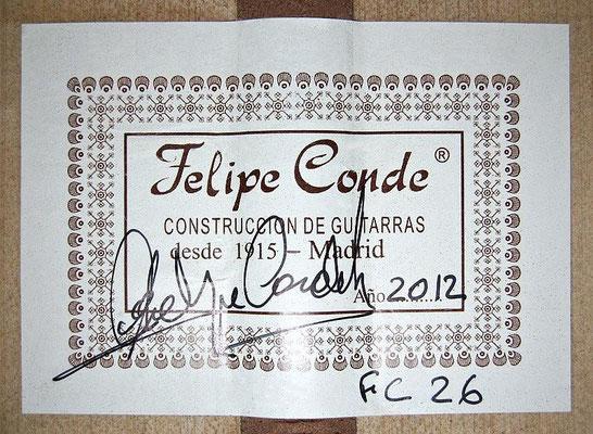 Felipe Conde 2012 - Guitar 8 - Photo 6