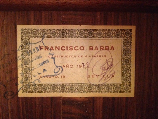Francisco Barba 1979 - Guitar 1 - Photo 2