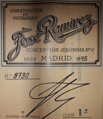 Jose Ramirez 1975 - Guitar 3 - Photo 14