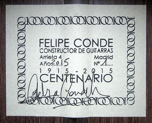 FELIPE CONDE - 100 YEARS - CENTENARY