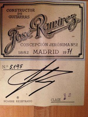 Jose Ramirez 1971 - Guitar 4 - Photo 7