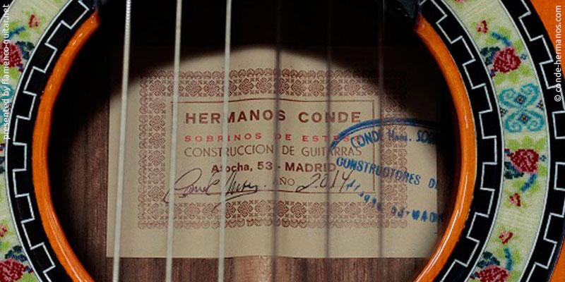 HERMANOS CONDE - SOBRINOS DE ESTESO 2014 - LABEL - ETIKETT - ETIQUETA