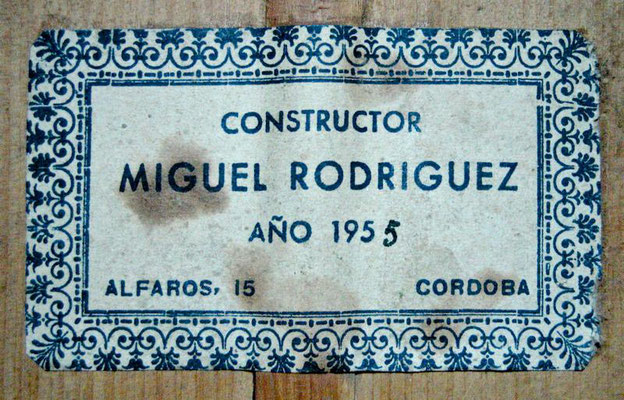Miguel Rodriguez 1955 - Guitar 1 - Photo 11