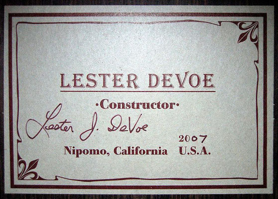 Lester Devoe 2007  - Guitar 1 - Photo 8