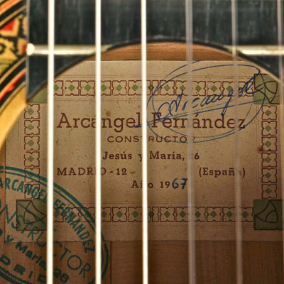 Arcangel Fernandez 1967 - Guitar 3 - Photo 7