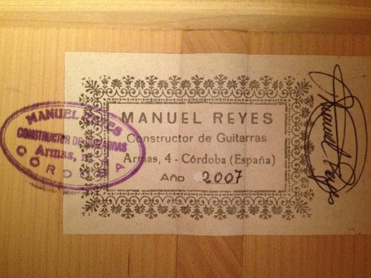 Manuel Reyes 2007 - Guitar 1 - Photo 2