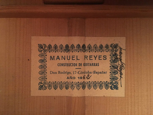 Manuel Reyes 1962 - Guitar 3 - Photo 33