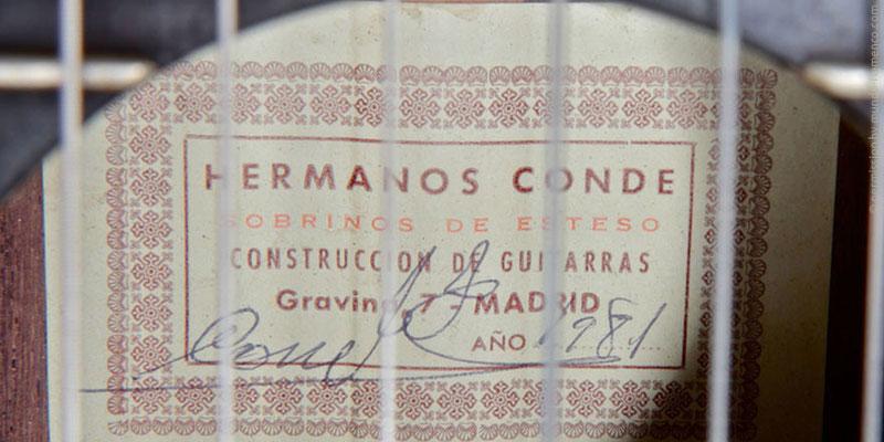 HERMANOS CONDE - SOBRINOS DE ESTESO 1981 - LABEL - ETIKETT - ETIQUETA